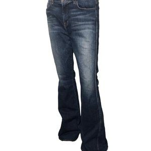 32/34 J BRAND Wide Boot Cut 10'' Stone Wash Jeans